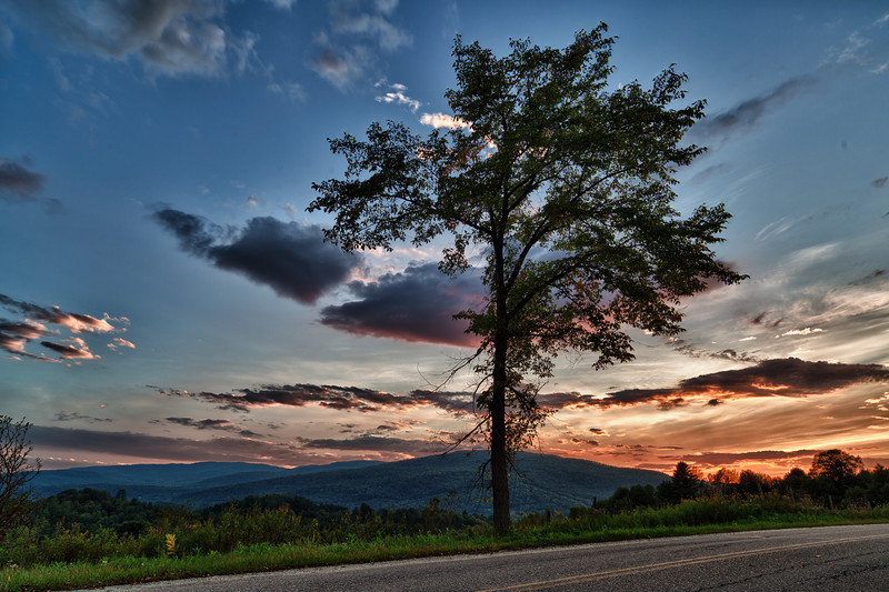 Sunset over the hills - Waterbury, VT