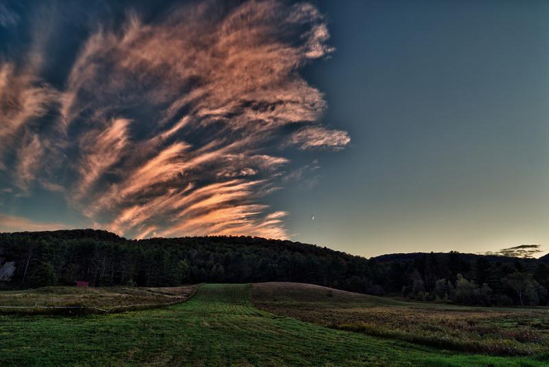 Pink dusk - Richmond, VT