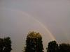 Double rainbow over GA parking lot
