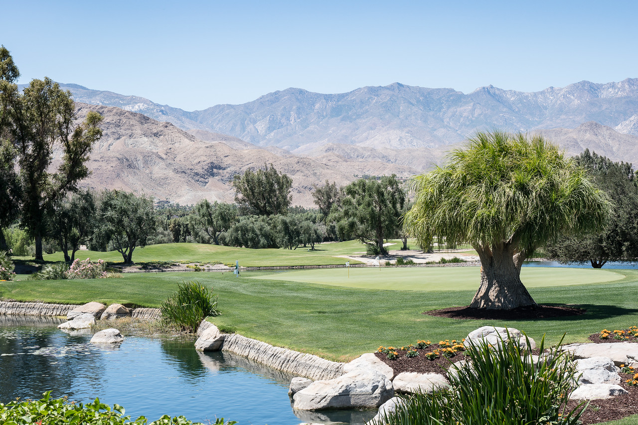 A nine-hole golf course surrounds Sunnylands