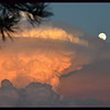 UFO Cloud and Moon