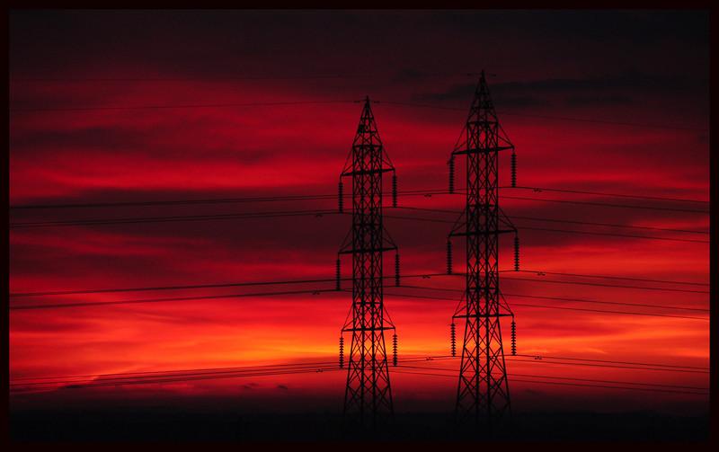 Powerlines at Sunrise