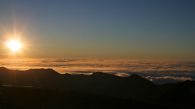 Sunrise from Haleakala Crater on Maui, Hawaii.