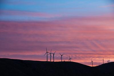 Windfarm Sunset