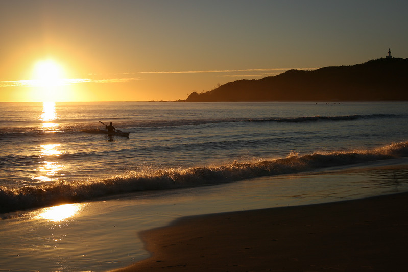 Morning kayak at Byron Bay