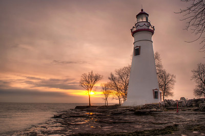 Winter Sunrise at Marblehead Lighthouse