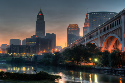Cleveland Skyline at Dawn