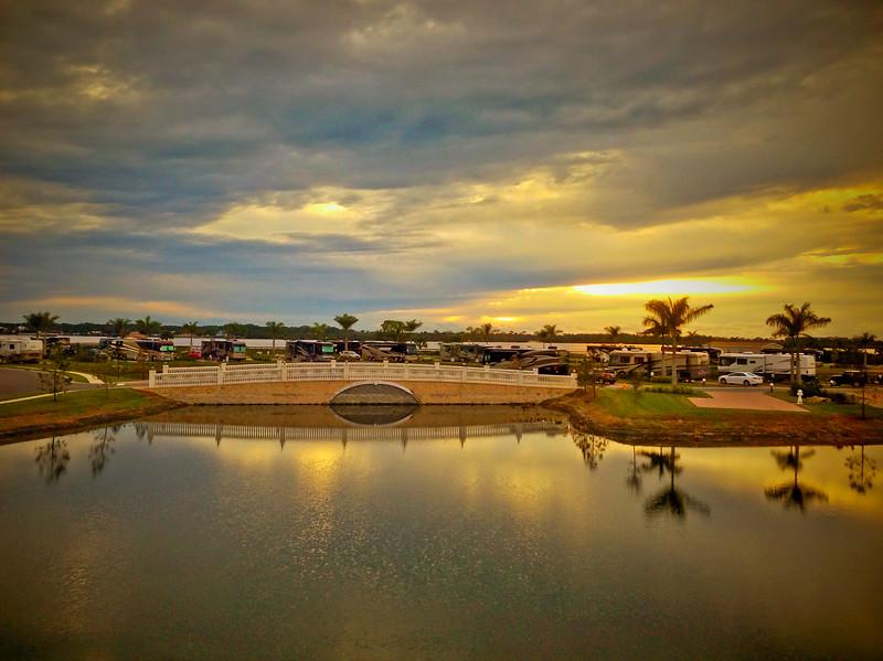 Myakka River Motorcoach Resort sunset!