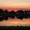 Sunset Over Shiner Lake At Palm Beach County South Bay Campground, Florida