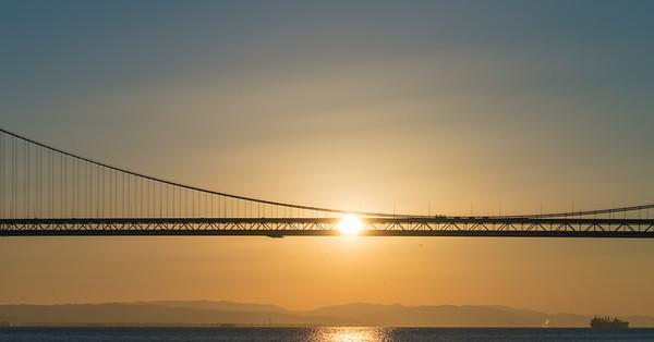 Bay Bridge Sun