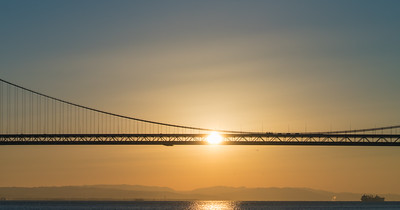 Bay Bridge Sun