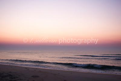 Sunrise on the beach at Assateague Island.