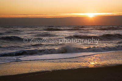 Sunrise on the beach in Corolla, along the Outer Banks.
