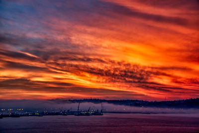 Orange Seattle Sunrise