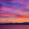 Olympic Mountains Pastel Sunset