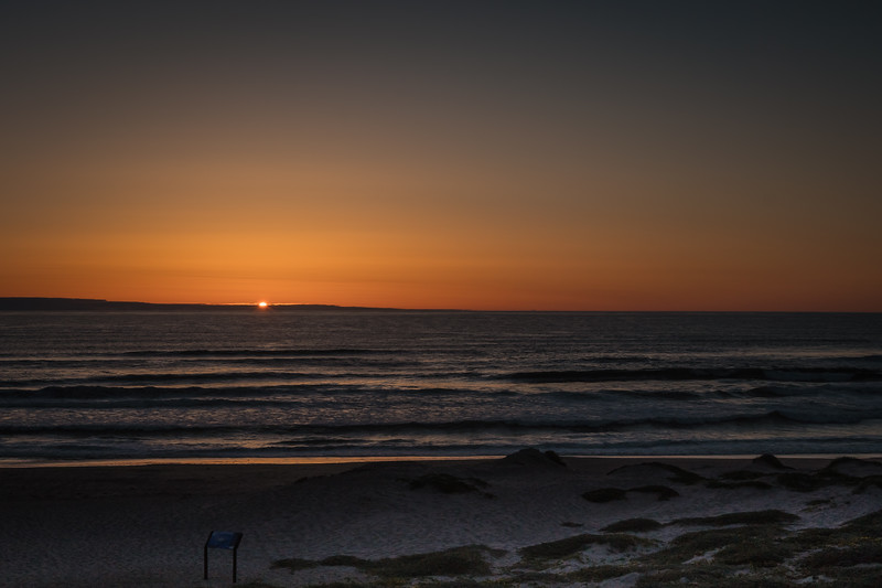 Lackluster sunset at Surf Beach