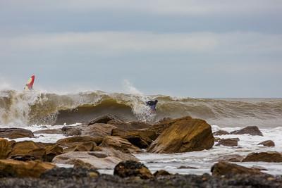 Bodyboarder on a Rocky Point Break