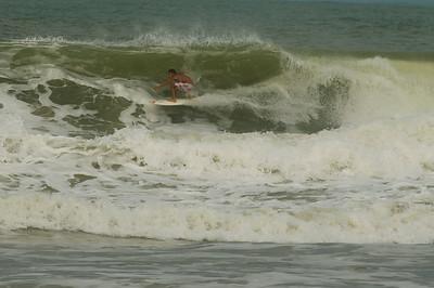 Surfer in Itacare, Bahia, Brazil.