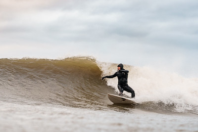 Surfing Cayton Bay, Bunkers - 21 November 2020
