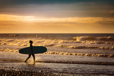 Nothing beats a sunset surf