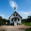 FORT NIEUW AMSTERDAM. OLD WOODEN CHURCH. SURINAM.