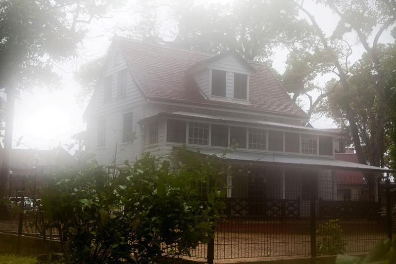 PARAMARIBO. OLD COLONIAL HOUSES.