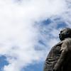 PARAMARIBO. STATUE OF JOHAND ADOLF PENGEL IN FRONT OF THE MINISERY OF FINANCE. ONAFHANKELIJKHEIDSPLEIN. SURINAME.