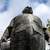 PARAMARIBO. STATUE OF JOHAND ADOLF PENGEL IN FRONT OF THE MINISERY OF FINANCE. ONAFHANKELIJKHEIDSPLEIN. SURINAME.