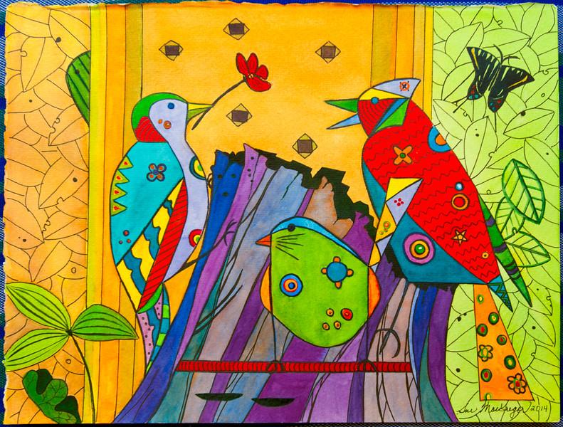 Three Birds–SOLD