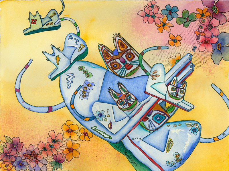 Blue Cats–SOLD