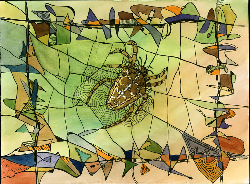 Spider Abstract – SOLD