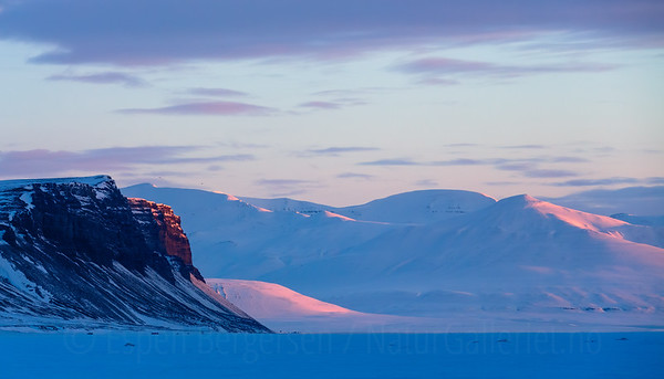 Landscape from Svalbard, Norway.