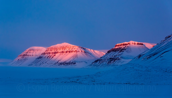 """Blue hour"" landscape from Svalbard, Norway."
