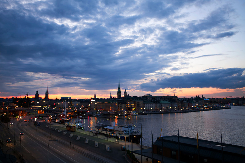 STOCKHOLM. GAMLA STAN. SUNSET.