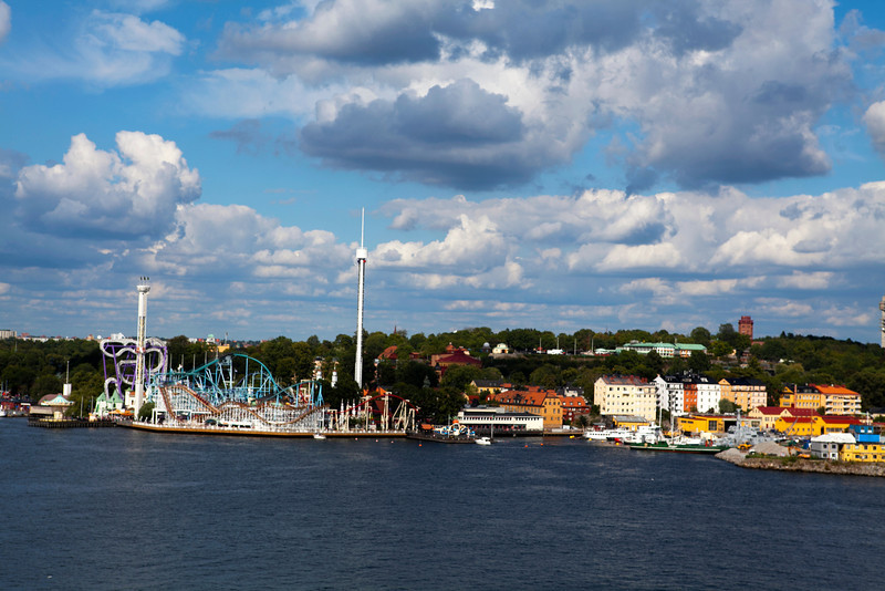 STOCKHOLM. VIEW FROM SODERMALM AT DJURGARDEN & GRONA LUND.