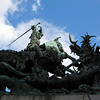 STOCKHOLM. GAMLA STAN. STATUE OF SAINT GEORGE AND THE DRAKE.