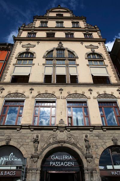 STOCKHOLM. GAMLA STAN. FACADE OF SWEDISH HOUSE.