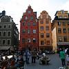 STOCKHOLM. GAMLA STAN. COLOURFUL SWEDISH HOUSES.