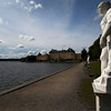 STOCKHOLM. DROTTNINGHOLM. STATUES WITH PALACE [2]