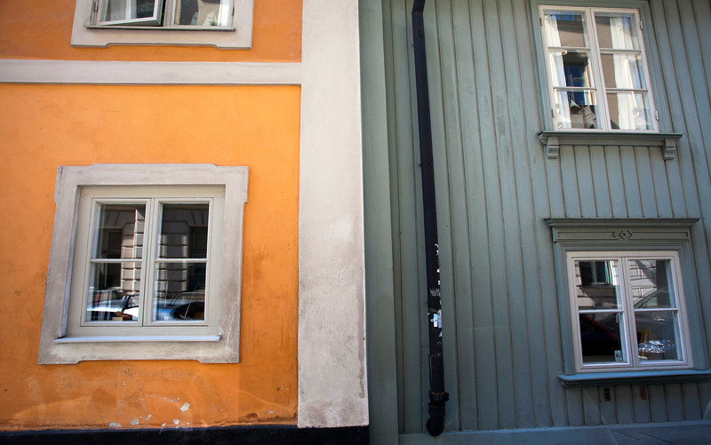 STOCKHOLM. YELLOW AND GREY HOUSE.