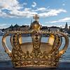 STOCKHOLM. SKEPPSHOLMSBRON BRIDGE WITH GOLDEN CROWN.