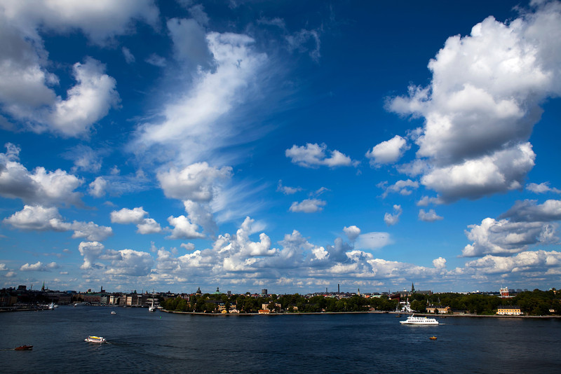 STOCKHOLM. VIEW FROM SODERMALM AT SKEPPSHOLMEN.