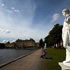 STOCKHOLM. DROTTNINGHOLM. STATUES WITH PALACE.
