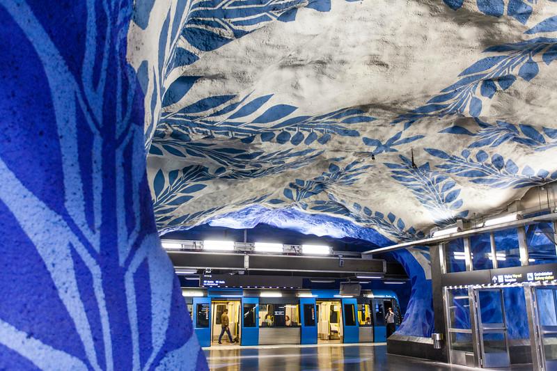 STOCKHOLM. T-CENTRALEN. SUBWAY STATION AT CENTRAL STATION.