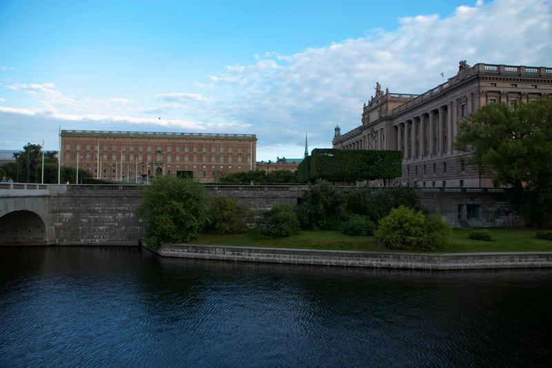 STOCKHOLM. GAMLA STAN. A VIEW AT KUNGLIGA SLOTTET. ROYAL PALACE.