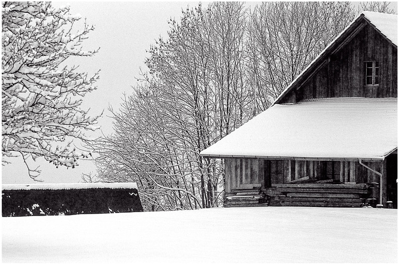 1978 11 First Winter Snow - Hirzel, Switzerland