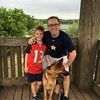 Brent and Will at the state park with Major on April 16, 2016