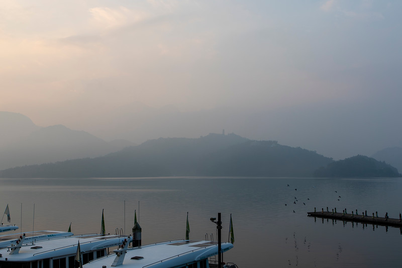 Sun Moon Lake, sunrise