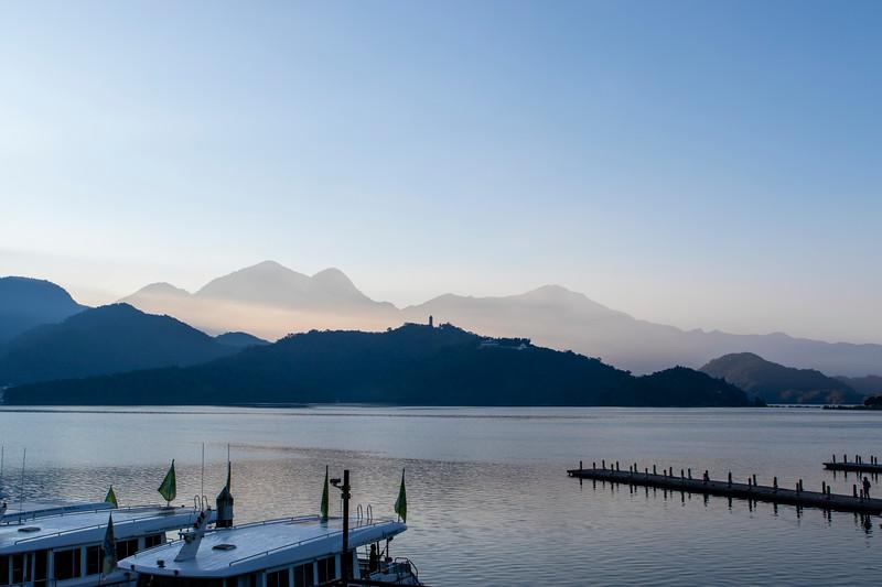 Sun Moon Lake, sunrise