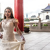 Taipei. A Taiwanese bride at the National Chiang Kai-shek Memorial Hall